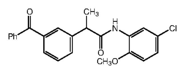 Alfa Aesar™2-(3-Benzoylphenyl)-N-(5-chloro-2-methoxyphenyl)propionamide, 95% 250mg Ver productos