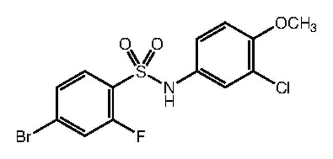 Alfa Aesar™4-Bromo-N-(3-chloro-4-methoxyphenyl)-2-fluorobenzenesulfonamide, 97% 250mg Ver productos