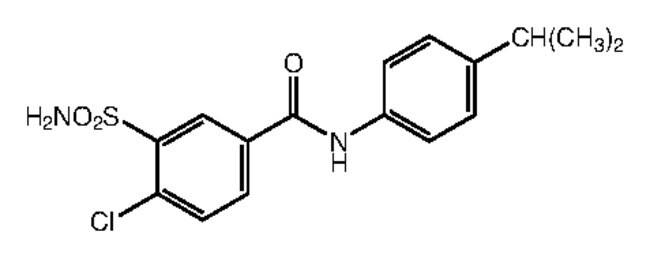 Alfa Aesar™4-Chloro-N-(4-isopropylphenyl)-3-sulfamoylbenzamide, 95% 250mg Ver productos