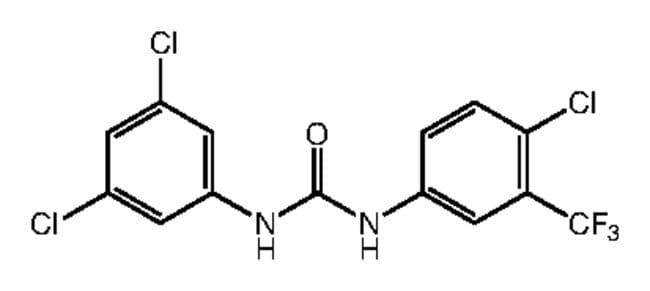 1-[4-Chloro-3-(trifluoromethyl)phenyl]-3-(3,5-dichlorophenyl)urea, 97%, Alfa Aesar™ 250mg Ver productos