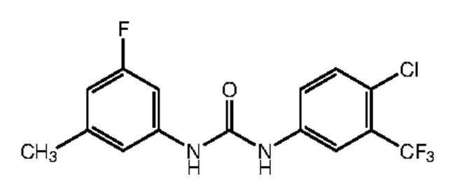 1-[4-Chloro-3-(trifluoromethyl)phenyl]-3-(3-fluoro-5-methylphenyl)urea, 97%, Alfa Aesar™ 1g Ver productos