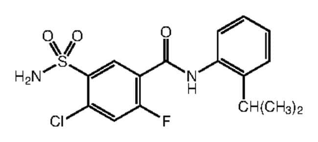 Alfa Aesar™4-Chloro-2-fluoro-N-(2-isopropylphenyl)-5-sulfamoylbenzamide, 95% 1g Ver productos