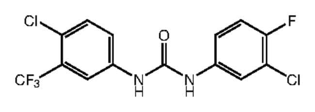 1-(3-Chloro-4-fluorophenyl)-3-[4-chloro-3-(trifluoromethyl)phenyl]urea, 97%, Alfa Aesar™: Home