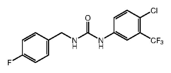 1-[4-Chloro-3-(trifluoromethyl)phenyl]-3-(4-fluorobenzyl)urea, 97%, Alfa Aesar™ 250mg Ver productos