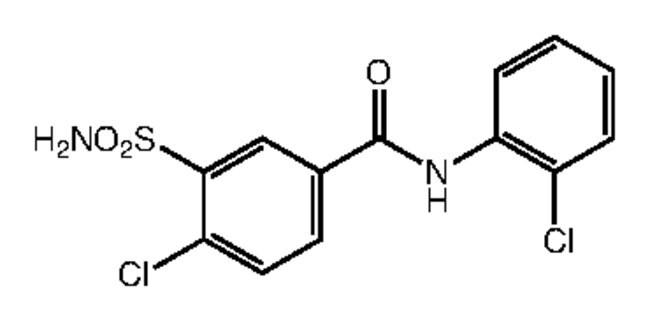 Alfa Aesar™4-Chloro-N-(2-chlorophenyl)-3-sulfamoylbenzamide, 95% 1g Ver productos