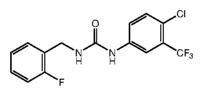 1-[4-Chloro-3-(trifluoromethyl)phenyl]-3-(2-fluorobenzyl)urea, 97%, Alfa Aesar™ 250mg Products