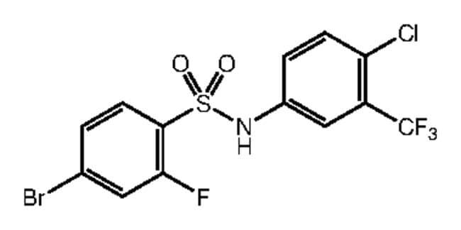 4-Bromo-N-[4-chloro-3-(trifluoromethyl)phenyl]-2-fluorobenzenesulfonamide, 97%, Alfa Aesar™ 1g Products