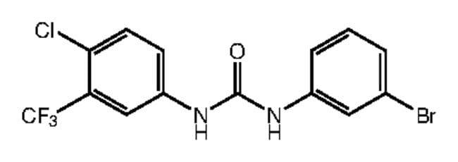 1-(3-Bromophenyl)-3-[4-chloro-3-(trifluoromethyl)phenyl]urea, 97%, Alfa Aesar™: Inicio