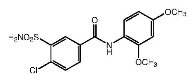Alfa Aesar™4-Chloro-N-(2,4-dimethoxyphenyl)-3-sulfamoylbenzamide, 95% 250mg Ver productos