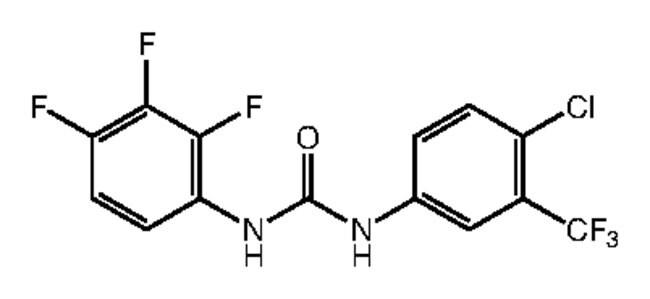 1-[4-Chloro-3-(trifluoromethyl)phenyl]-3-(2,3,4-trifluorophenyl)urea, 97%, Alfa Aesar™ 250mg Products