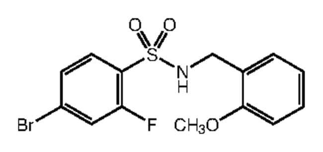 Alfa Aesar™4-Bromo-2-fluoro-N-(2-methoxybenzyl)benzenesulfonamide, 97% 1g products