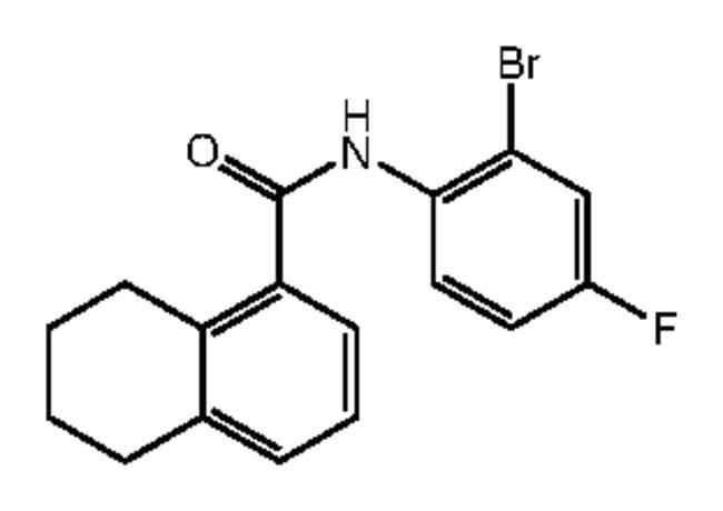 Alfa Aesar™N-(2-Bromo-4-fluorophenyl)-5,6,7,8-tetrahydronaphthalene-1-carboxamide, 95% 1g Ver productos
