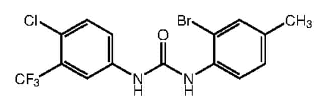 1-(2-Bromo-4-methylphenyl)-3-[4-chloro-3-(trifluoromethyl)phenyl]urea, 97%, Alfa Aesar™ 250mg products
