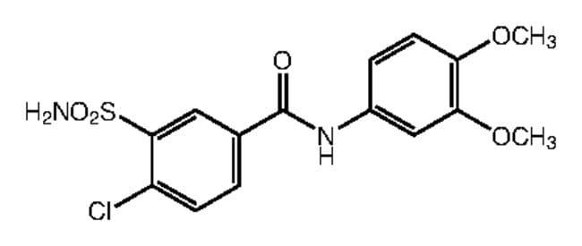 Alfa Aesar™4-Chloro-N-(3,4-dimethoxyphenyl)-3-sulfamoylbenzamide, 95% 250mg Products