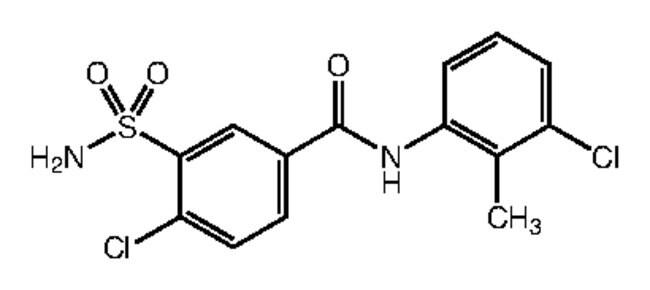 Alfa Aesar™4-Chloro-N-(3-chloro-2-methylphenyl)-3-sulfamoylbenzamide, 95% 1g Ver productos