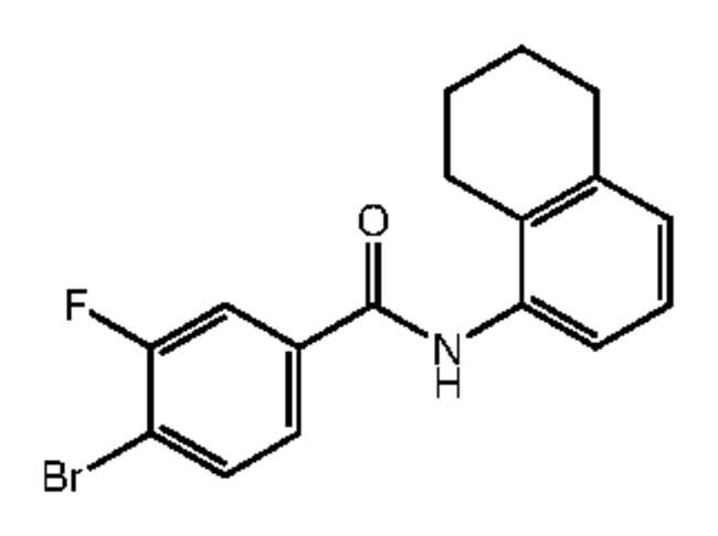 Alfa Aesar™4-Bromo-3-fluoro-N-(5,6,7,8-tetrahydro-1-naphthyl)benzamide, 95% 1g Products
