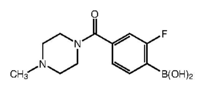 Alfa Aesar™2-Fluoro-4-(4-methyl-1-piperazinylcarbonyl)benzeneboronic acid, 96% 250mg Alfa Aesar™2-Fluoro-4-(4-methyl-1-piperazinylcarbonyl)benzeneboronic acid, 96%