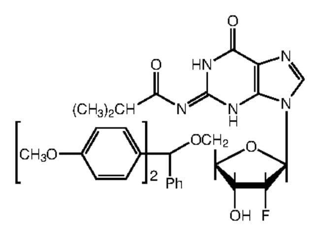 Alfa Aesar™5'-O-(4,4'-Dimethoxytrityl)-2'-fluoro-N2-isobutyryl-2'-deoxyguanosine, 98%
