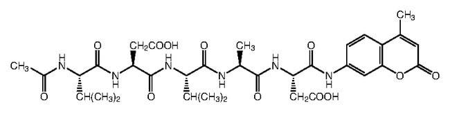 Alfa Aesar™N-Acetyl-Val-Asp-Val-Ala-Asp-7-amino-4-methylcoumarin 5mg Alfa Aesar™N-Acetyl-Val-Asp-Val-Ala-Asp-7-amino-4-methylcoumarin