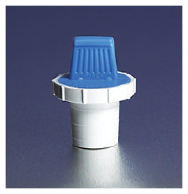 PYREX Standard Taper Polyethylene Stoppers Std. taper no. 8; No hole; Blue