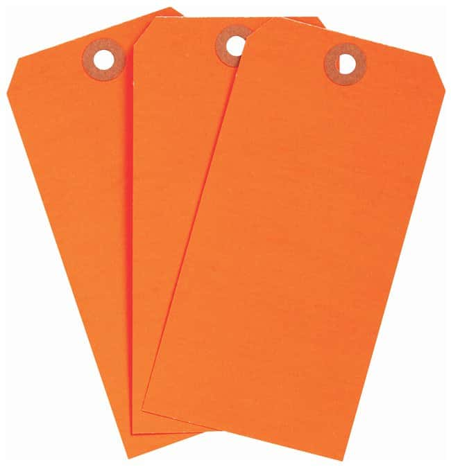 Brady Heavy Duty Blank Fluorescent Tags:Gloves, Glasses and Safety:Facility