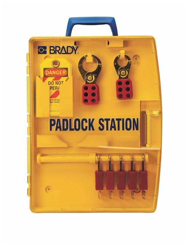 Brady Padlock Station w/ 5 Safety Padlocks Thermoformed polypropylene;