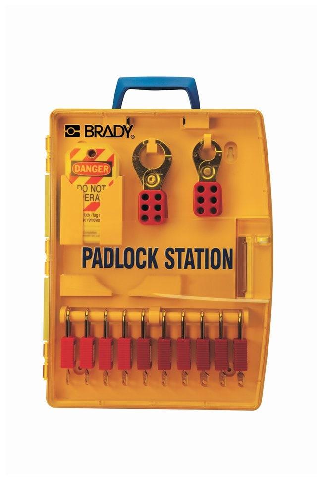 Brady Padlock Station w/ 10 Safety Padlocks Thermoformed polypropylene;