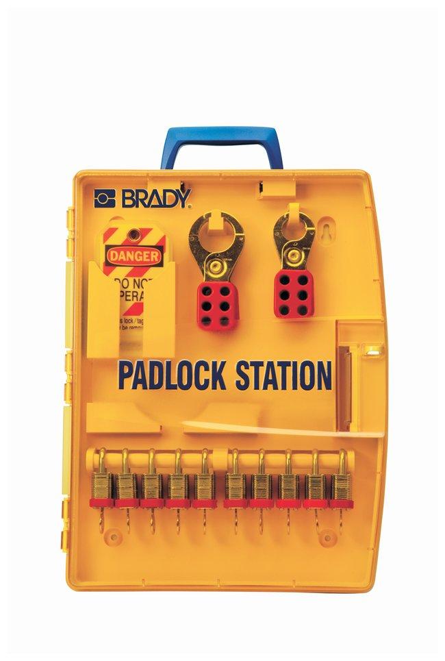 Brady Padlock Station w/ 10 Steel Padlocks Thermoformed polypropylene;