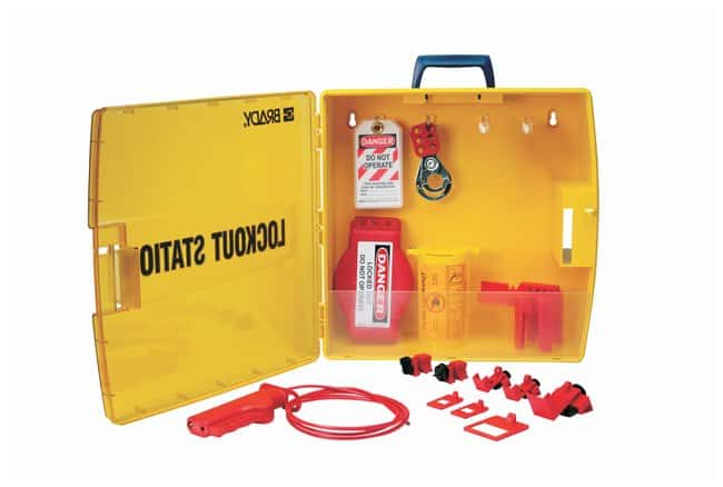 Brady Ready Access Valve & Electrical Lockout Station:Gloves, Glasses and