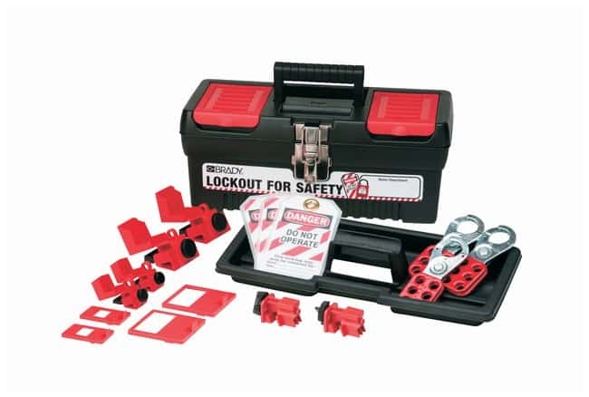 Brady Personal Breaker Lockout Kit Polypropylene with nickle-plated clasps;