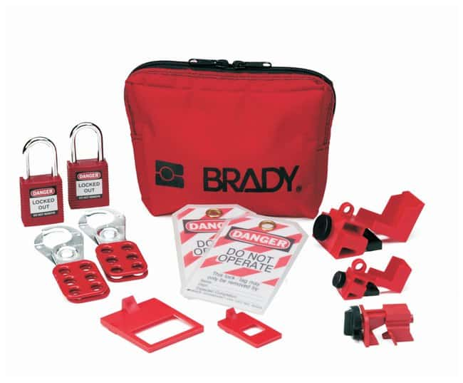Brady Breaker Lockout Sampler Toolbox Kit w/ 2 Keyed-Alike Safety Padlocks