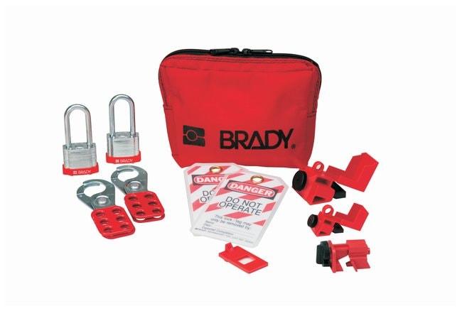 Brady Personal Breaker Lockout Pouch w/ 2 Keyed-Alike Steel Padlocks Nylon;
