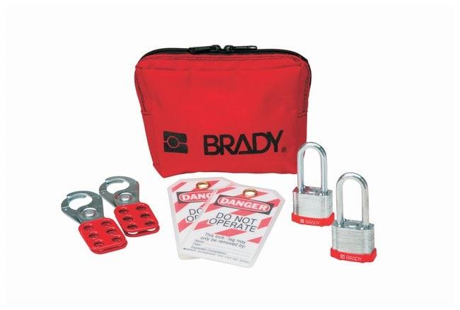 Brady Personal Padlock Pouch with Keyed-Alike Steel Padlocks Steel body;