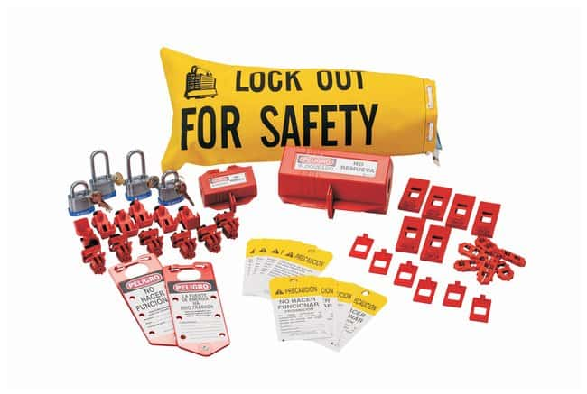 Brady Electrical Lockout Starter Kit, Mexico Canvas; 18 in. x 9.75 in.:Gloves,