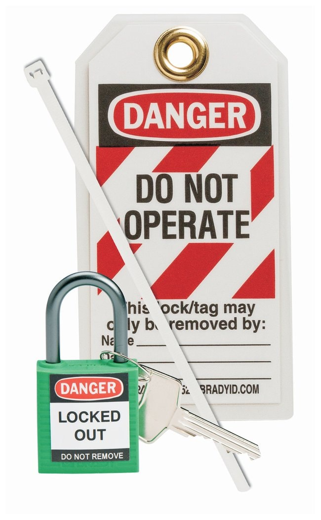 BradyCompact Safety Padlock Kit Green:Facility Safety and Maintenance