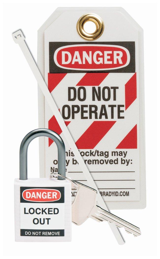 Brady Compact Safety Padlock Kit:Gloves, Glasses and Safety:Facility Maintenance