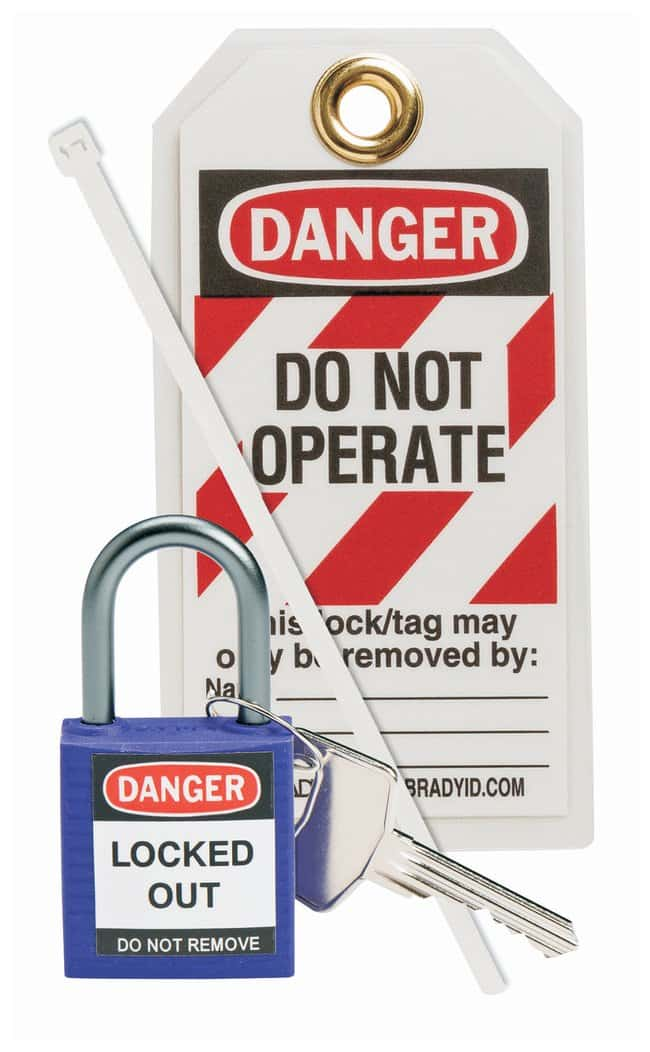 Brady Compact Safety Padlock Kit Purple:Gloves, Glasses and Safety