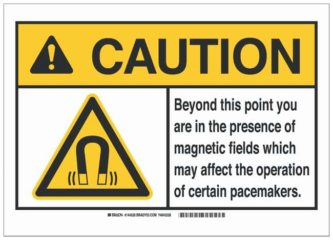 Brady Polystyrene ANSI Caution Sign: BEYOND THIS POINT...MAY AFFECT THE