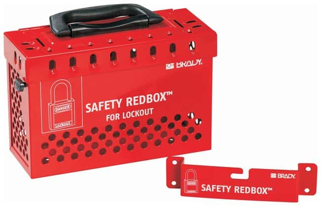 Brady SAFETY REDBOX Lock Box:Gloves, Glasses and Safety:Facility Maintenance