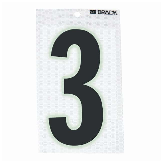 Brady Glow-In-The-Dark/Ultra Reflective Number: 3 Character Height: 5.08cm