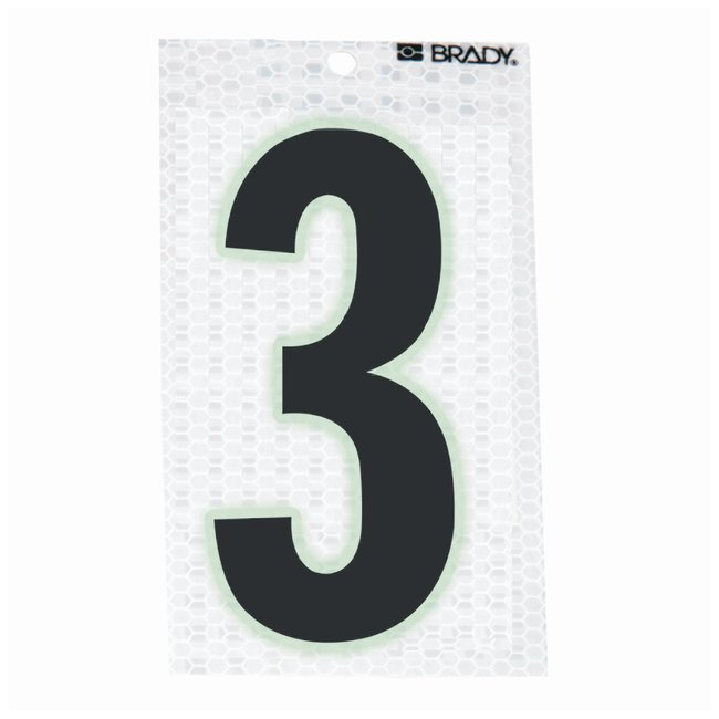 Brady Glow-In-The-Dark/Ultra Reflective Number: 3:Gloves, Glasses and Safety:Facility
