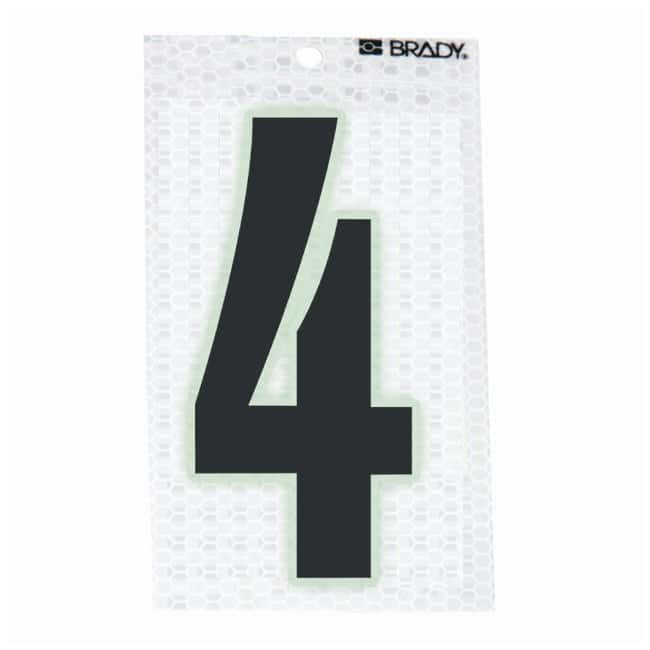 Brady Glow-In-The-Dark/Ultra Reflective Number: 4:Gloves, Glasses and Safety:Facility