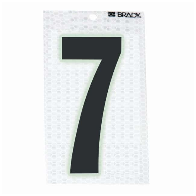 Brady Glow-In-The-Dark/Ultra Reflective Number: 7 Character Height: 12.7cm