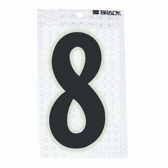 Brady Glow-In-The-Dark/Ultra Reflective Number: 8 Character Height: 12.7cm
