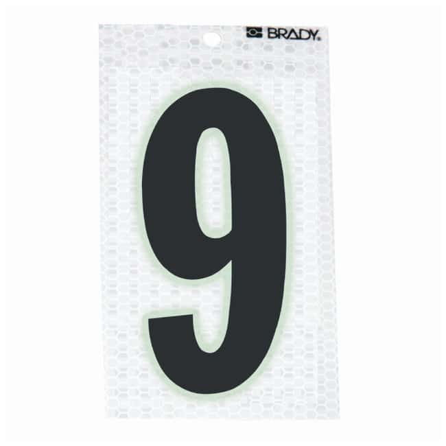 Brady Glow-In-The-Dark/Ultra Reflective Number: 9 Character Height: 12.7cm