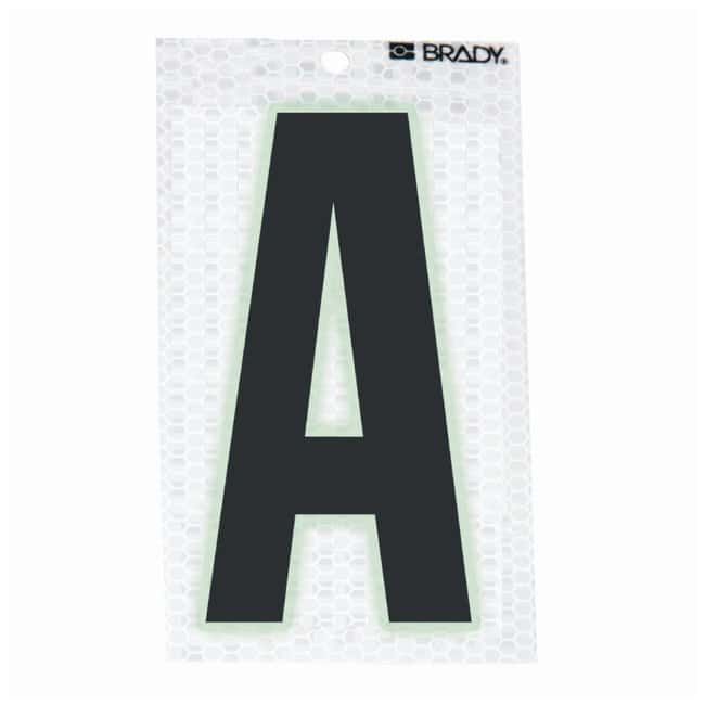 Brady Glow-In-The-Dark/Ultra Reflective Letter: A Character Height: 5.08cm