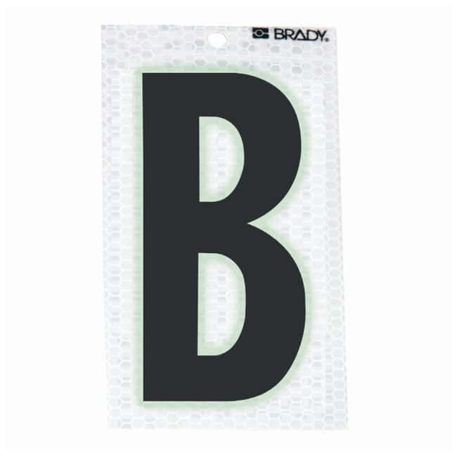 Brady Glow-In-The-Dark/Ultra Reflective Letter: B:Gloves, Glasses and Safety:Facility
