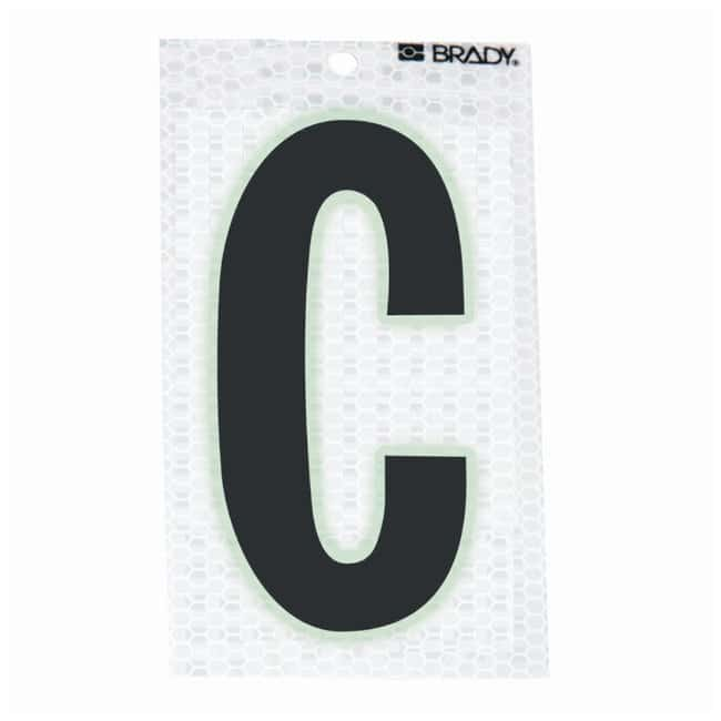 Brady Glow-In-The-Dark/Ultra Reflective Letter: C:Gloves, Glasses and Safety:Facility