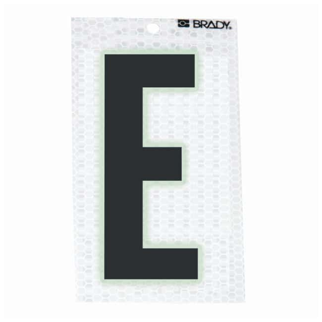 Brady Glow-In-The-Dark/Ultra Reflective Letter: E Character Height: 5.08cm