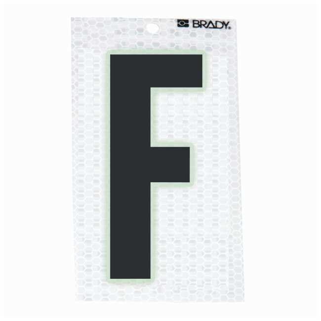 Brady Glow-In-The-Dark/Ultra Reflective Letter: F:Gloves, Glasses and Safety:Facility